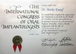 Dr. Marko Knauf Zertifikat IOCI